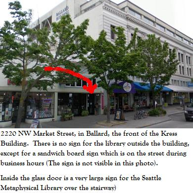 Street View of the Seattle Metaphysical Library, 2220 NW